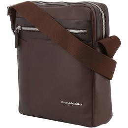 Piquadro Dark Brown Leather Messenger Bag 253874