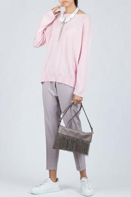 Объемный розовый свитер Fabiana Filippi 2658160765