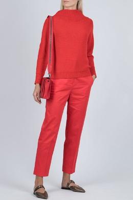 Красный объемный свитер комбинированной вязки Fabiana Filippi 2658160768