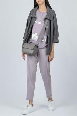 Сиреневый джемпер с серебристой отделкой Fabiana Filippi 2658160930