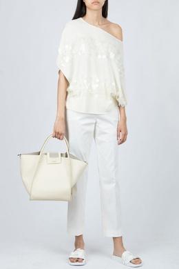 Белый джемпер с декором Fabiana Filippi 2658160928