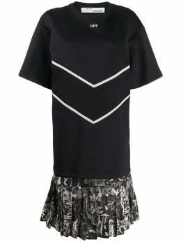 Off-White платье-футболка вязки интарсия OWDB172F19F850511001