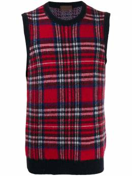 Altea свитер без рукавов с узором тартан 1961096