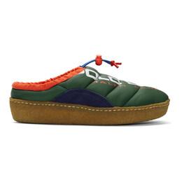 Polo Ralph Lauren Green Polo Sport Myles Puffer Loafers 803770234002