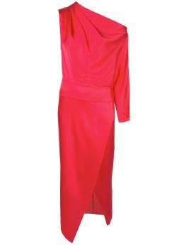 Michelle Mason платье с одним рукавом и драпировкой M9235
