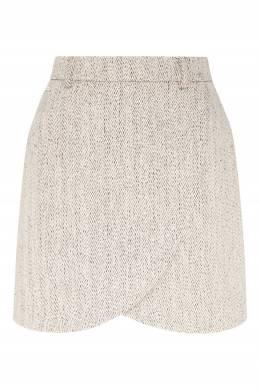 Короткая юбка серого цвета Laroom 1333160919