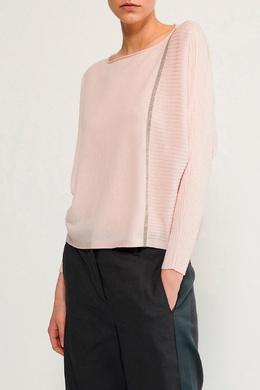 Розовый джемпер с рукавами летучая мышь Fabiana Filippi 2658160994