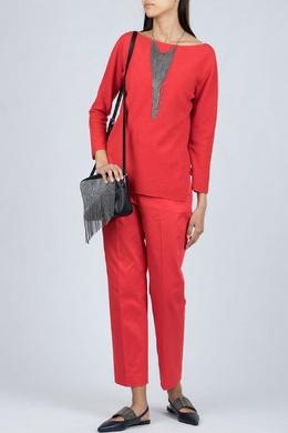 Красный джемпер с длинными рукавами Fabiana Filippi 2658161003