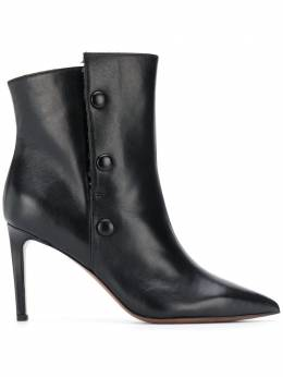 L'Autre Chose side button stiletto boots OSK11885WP2865E445