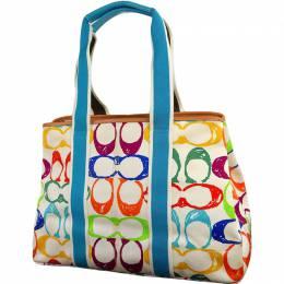 Coach Multicolor Signature Canvas Tote Bag