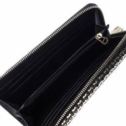 Aigner Metallic Gold Leather Zip Around Wallet 237676