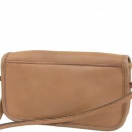 Coach Brown Leather Turnlock Crossbody Bag