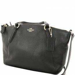 Coach Black Pebble Leather Small Kelsey Satchel Bag