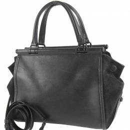 Coach Black Leather and Suede Drifter Carryall Bag
