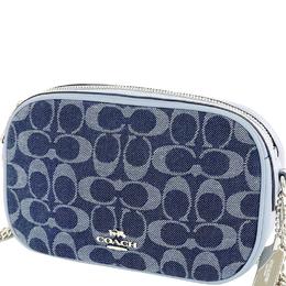 Coach Blue Signature Denim Crossbody Bag