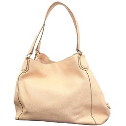 Coach Beige Leather Edie Shoulder Bag