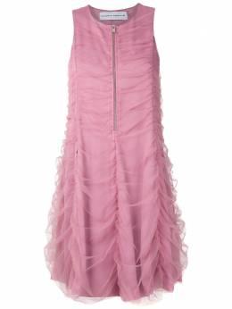 Gloria Coelho платье из тюля с драпировкой V20VC012