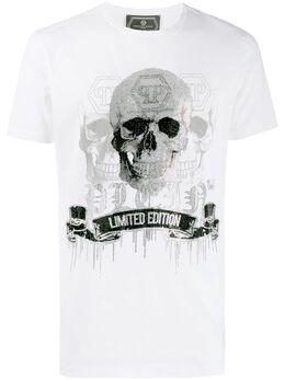 Philipp Plein декорированная футболка F19CMTK3672PJY002N
