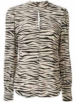 A.L.C. блузка Marina с зебровым принтом 5TOPS00635
