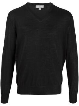 Canali свитер с V-образным вырезом MK00077C0029