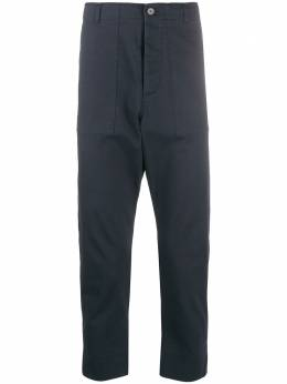 Nanushka брюки узкого кроя GAIUSNAVYCRISPTWILL