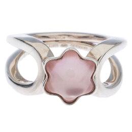 Montblanc Cabochon de Montblanc Rose Quartz Silver Ring Size 54 237451