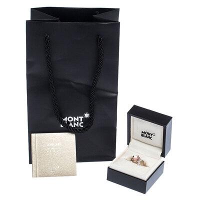 Montblanc Cabochon de Montblanc Rose Quartz Silver Ring Size 54 237451 - 6
