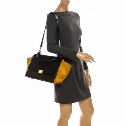 Celine Tri Color Leather and Suede Medium Trapeze Bag 236144