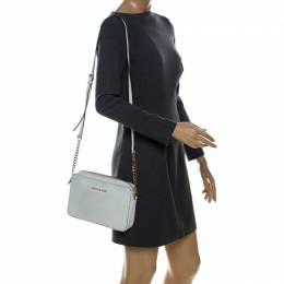 Michael Kors White Leather Jet Set Crossbody Bag 238537