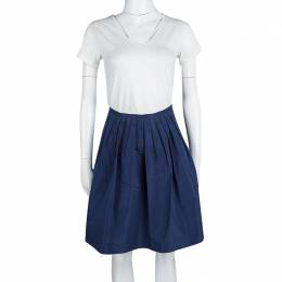 Miu Miu Blue Pleated Skirt M 115240