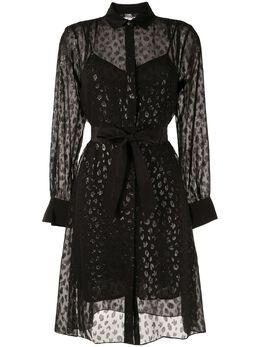Karl Lagerfeld жаккардовое платье с леопардовым принтом 96KW1309P53