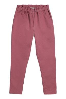 Розовые брюки с эластичным поясом Bonpoint 1210161044
