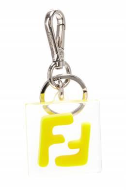 Прозрачный брелок с желтым логотипом FF Fendi 1632162501