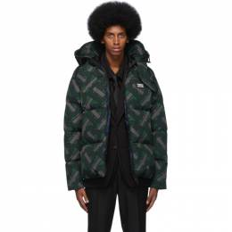 Burberry Green Monogram Puffer Down Dalston Jacket 8025909