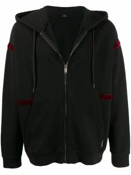 Marcelo Burlon County Of Milan BUMPER CAR OVER ZIP HOODIE BLACK MULTICO CMBE009F195060231088