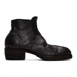 Guidi Black Lace-Up Boots 793Z