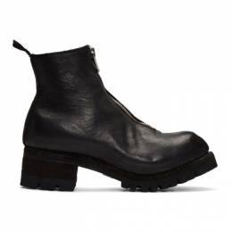 Guidi Black Front Zip Boots PL1V