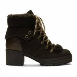 See By Chloe Brown Eileen Heeled Boots SB31121A 08230