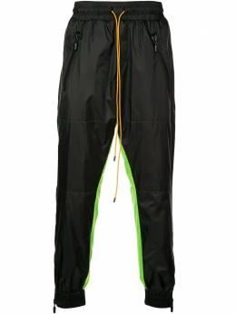 Rhude двухцветные брюки 04APA00801
