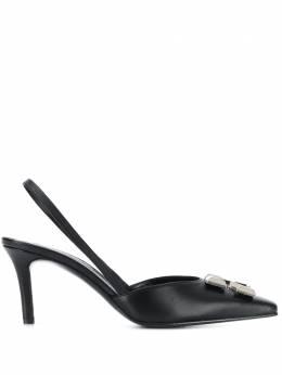 Off-White туфли с логотипом и ремешком на пятке OWIA190F19B420501000