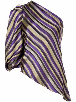 Josie Natori жаккардовая блузка на одно плечо H15212