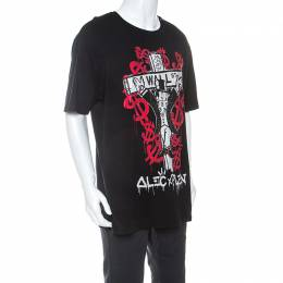Philipp Plein Black Cotton Printed Crystal Detail Monopoly T-Shirt 4XL 240257