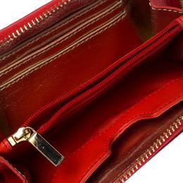 Tory Burch Orange Leather Wristlet Wallet