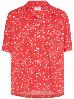 Rhude рубашка с принтом и короткими рукавами 04ASH03701
