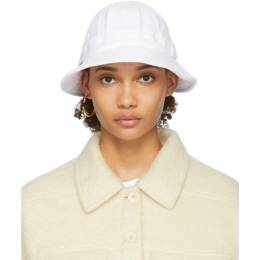 Sjyp White Terry Logo Bucket Hat PWMT2AZ02900
