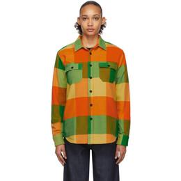 Noah Nyc Yellow Big Check Flannel CPO Shirt S1FW19