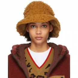 Sjyp Reversible Brown Wool Hairy Hat PW1J9AHT029W