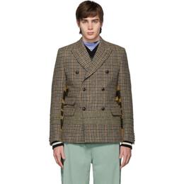 Junya Watanabe Beige and Brown Wool Tweed Coat WD-J002-051
