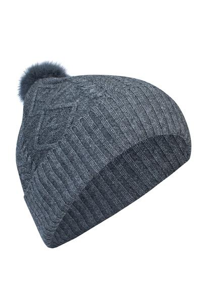 Серая шапка с меховым помпоном Max & Moi 2919162539 - 3