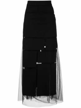 Gloria Coelho юбка макси со вставками V20S005
